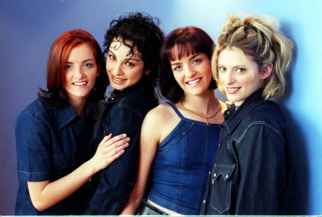 (L-R) Keavy, Lindsay, Edele and Sinead, aka B*Witched (Bewitched). The band was formed when the four were introduced to Ray Hedges, who now produces them. They became the first Irish band ever to go to Number One in the British charts with a debut single.