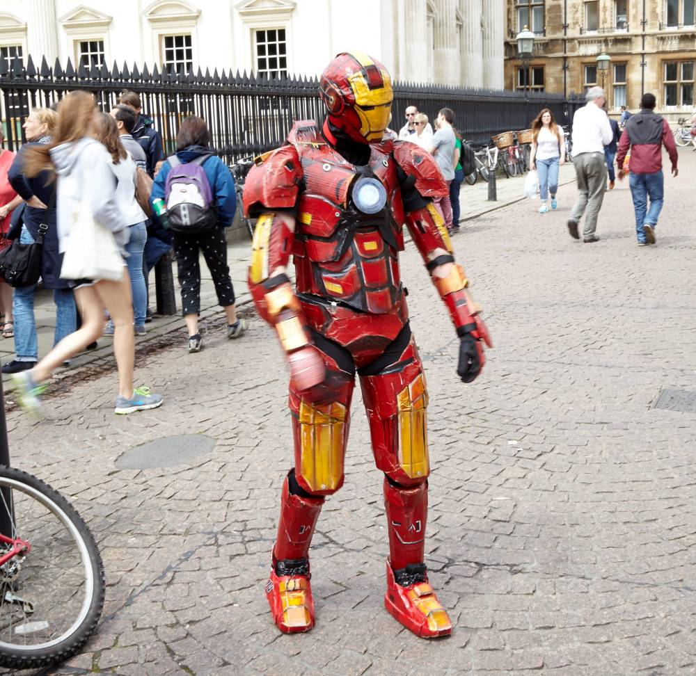 Legendary cinema worker creates Iron Man suit with arc reactor and helmet for just £50
