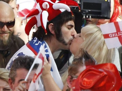 Sacha Baron Cohen and Rebel Wilson share kiss on set of new movie