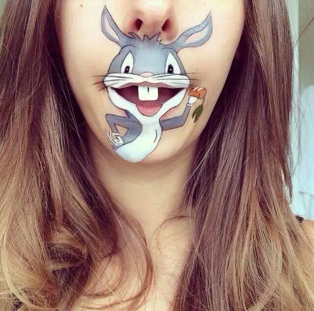 Lip art, Disney make up, Disney lip art, Disney face paint, Laura Jenkinson, Make up trends, Wacky make up, Make up inspiration
