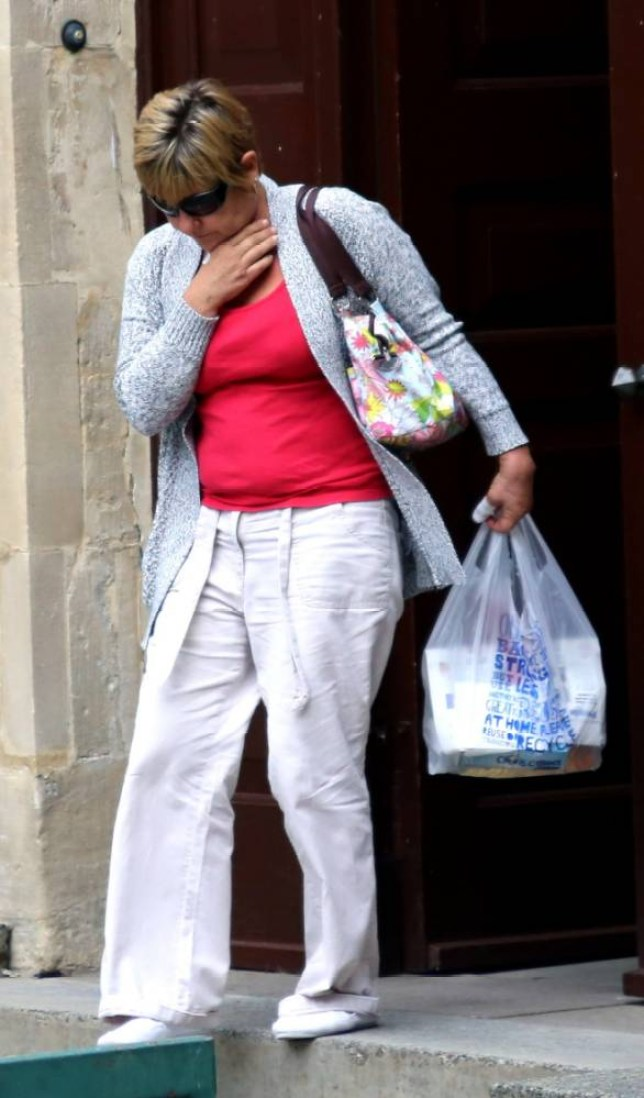 Jeanette Hopper, 50, had been discovered with dried blood on her hands. But when an officer tried to handcuff her, she violently attacked him, Gloucester crown court heard (Picture: GNS)