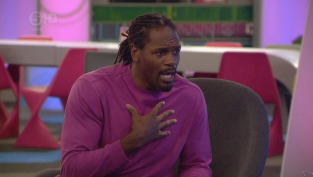 Celebrity Big Brother 2014 - Audley Harrison (Picture: Channel 5)