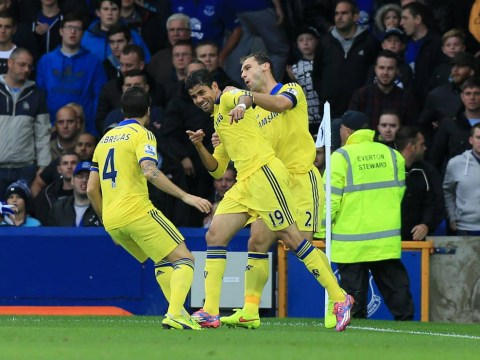 Chelsea get off to flying start at Everton with Diego Costa and Branislav Ivanovic goals inside three minutes