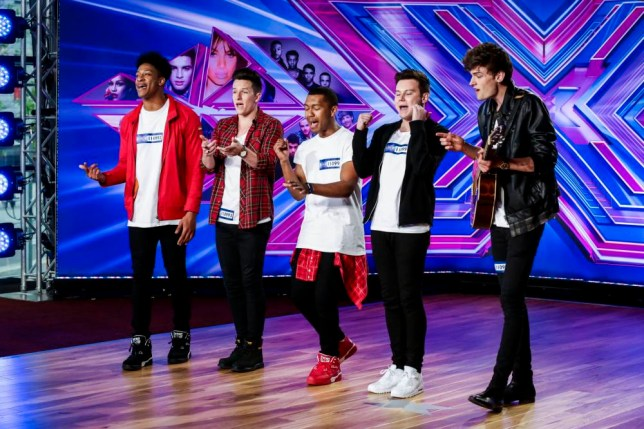 Undated handout photo issued by ITV of contestants Concept as The X Factor returns to ITV as would-be stars from around the world audition for the show. PRESS ASSOCIATION Photo. Issue date: Sunday August 31, 2014. Acts from as far afield as South Africa, Italy, Poland and Hong Kong all try to impress judges Simon Cowell, Louis Walsh, Mel B and Cheryl Fernandez-Versini. See PA story SHOWBIZ XFactor. Photo credit should read: ITV/Tom Dymond/PA Wire NOTE TO EDITORS: This handout photo may only be used in for editorial reporting purposes for the contemporaneous illustration of events, things or the people in the image or facts mentioned in the caption. Reuse of the picture may require further permission from the copyright holder.