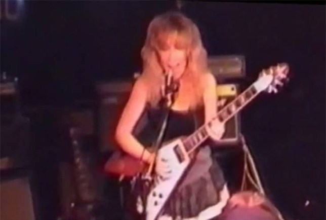Sally Jones fronted an all-girl rock bank in the 90s (Picture: Youtube)