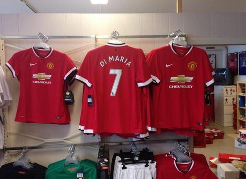 Manchester United shirts with Angel DI Maria's name already on sale