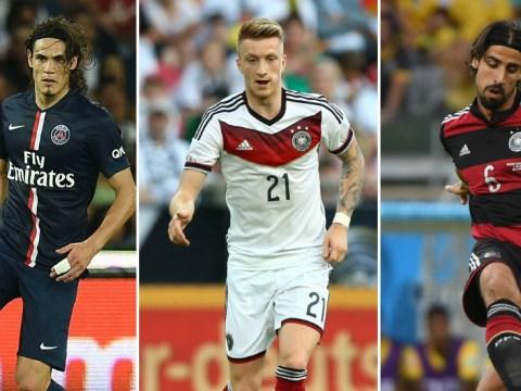 Arsenal line up transfer moves for Edinson Cavani, Marco Reus and Sami Khedira