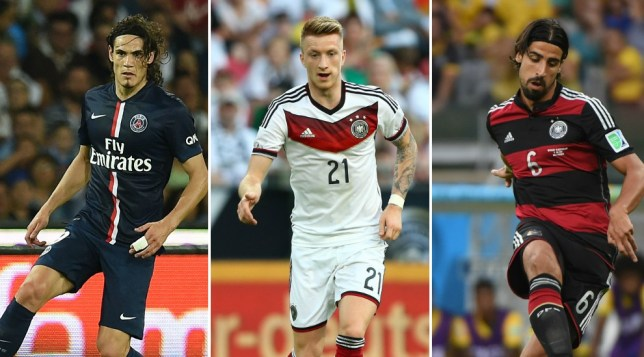 Arsenal are chasing all three of these star names (Picture: Getty)