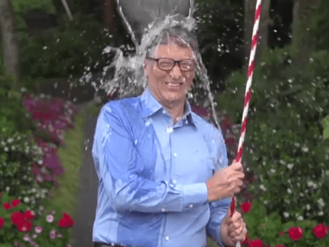 Bill Gates accepts Mark Zuckerberg's ice bucket challenge in the nerdiest way possible