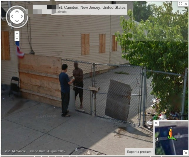 Did Google Maps catch these two men in Camden, New Jersey, in the ...
