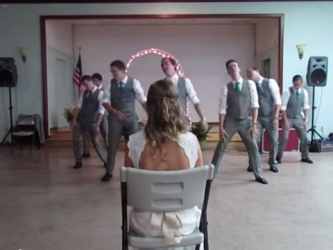 Groom choreographs a dance to One Direction for his new wife and it's so awkward it's brilliant