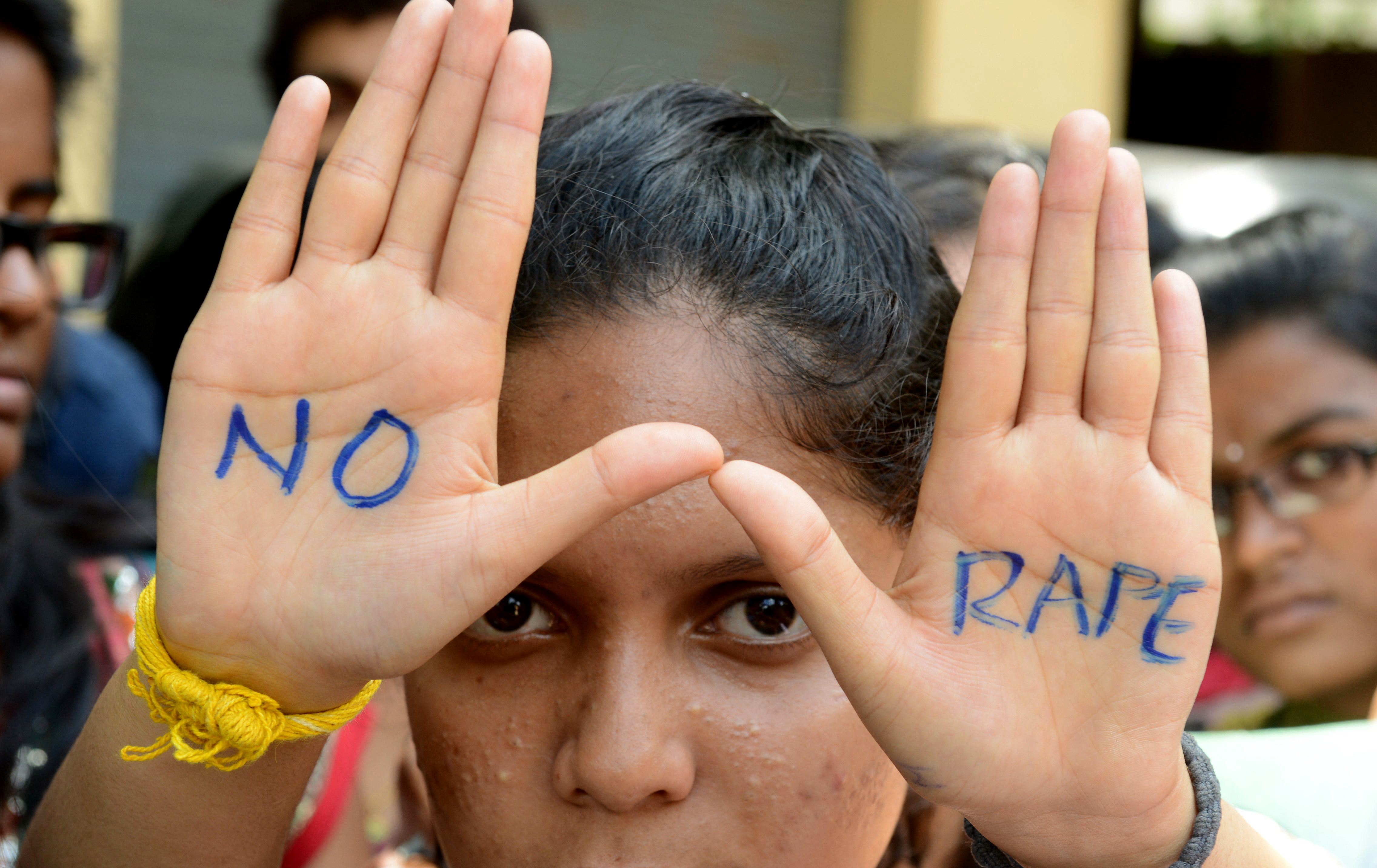 An anti-rape protest in India (Picture: Noah Seelam/AFP/Getty)