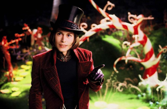 Film: Charlie and the Chocolate Factory (2005) JOHNNY DEPP as Willy Wonka in Warner Bros. Pictures'  2005
