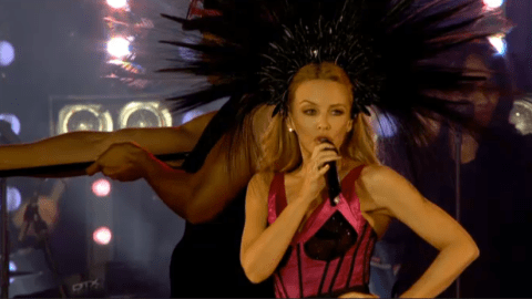 Kylie Minogue manages to save Commonwealth Games closing ceremony with spectacular seven-song set