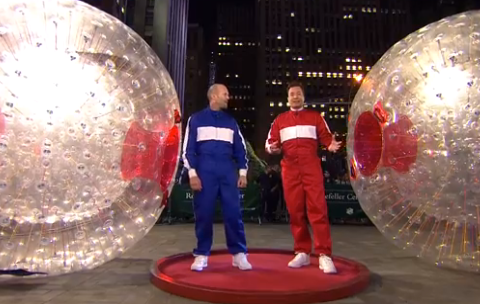What happened when Jason Statham took on Jimmy Fallon in a hamster ball race