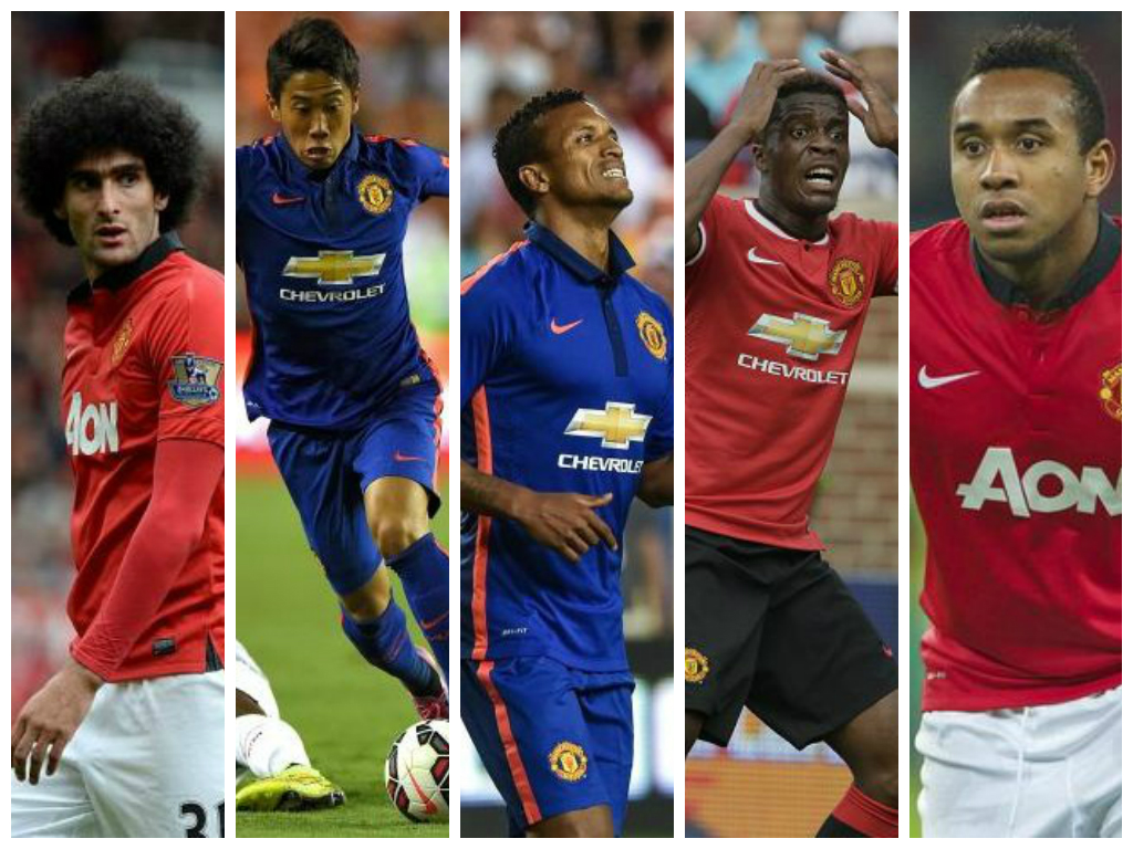 On their way out: Fellaini, Kagawa, Nani, Zaha, Anderson (Picture: Getty)