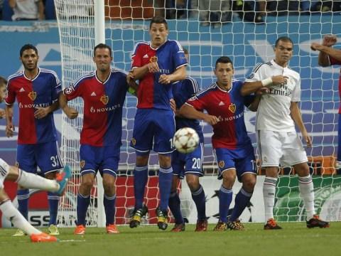 Sergio Ramos pulls rank on James Rodriguez and Cristiano Ronaldo to take the worst free-kick ever