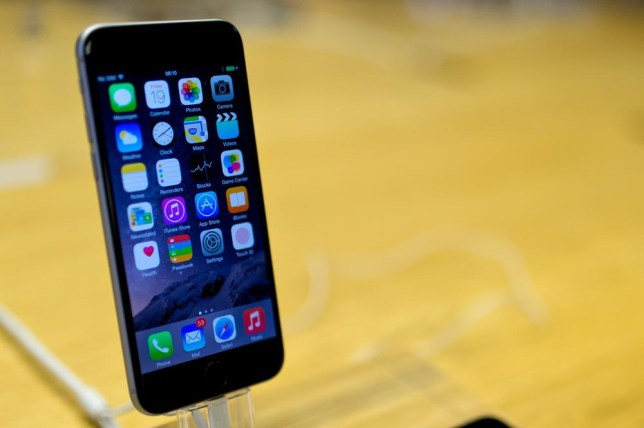 LONDON, ENGLAND - SEPTEMBER 19: A general view of the iPhone 6 at Apples Covent Garden store launch on September 19, 2014 in London, England. Ben A. Pruchnie/Getty Images