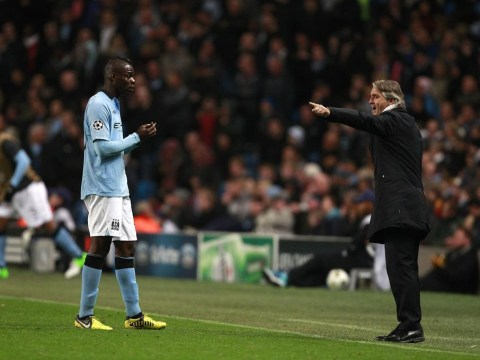 Former Manchester City boss Roberto Mancini insists he and Mario Balotelli never came to blows during training ground row