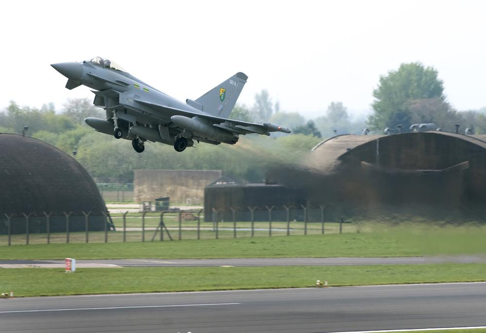The noise is understood to have been a 'sonic boom' caused by two Typhoon jets intercepting a third aircraft