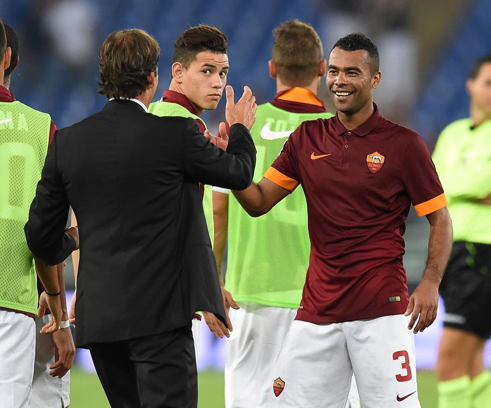 Ashley Cole recreates awkward Roma pose on night out with Chelsea captain John Terry and One Direction's Niall Horan