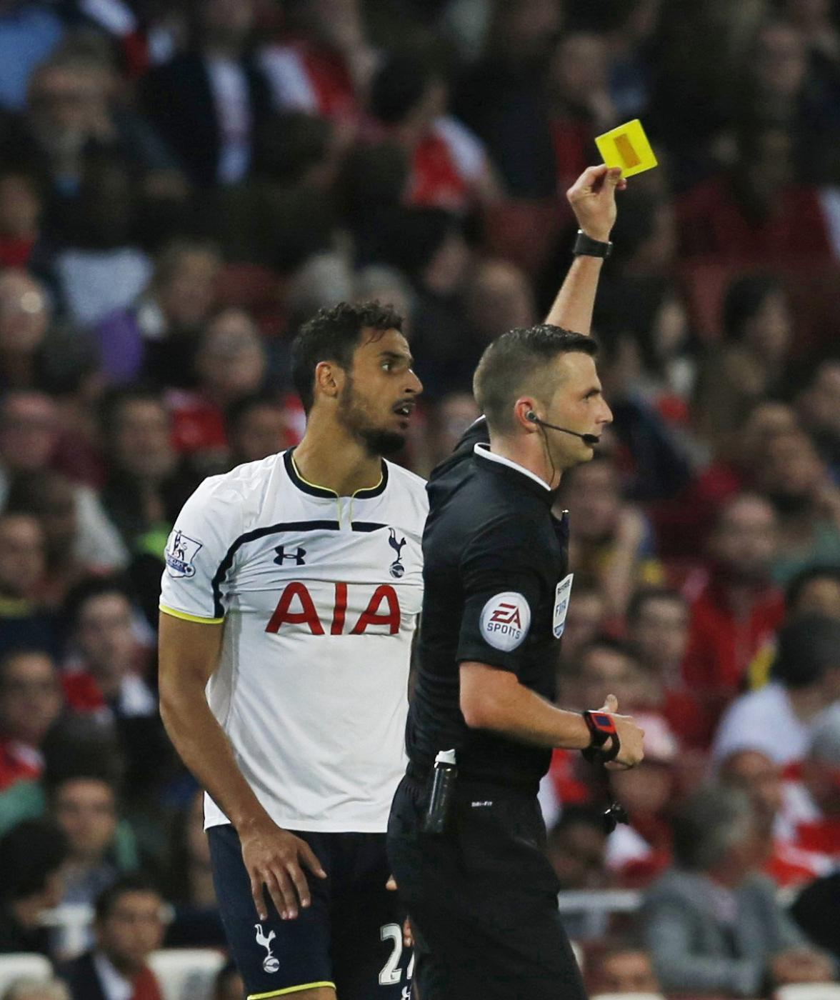 Is Nacer Chadli's yellow for Spurs against Arsenal conclusive proof football has gone soft?