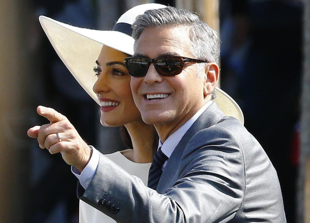 Amal Alamuddin rounds off her four-day wedding weekend in stylish Stella McCartney