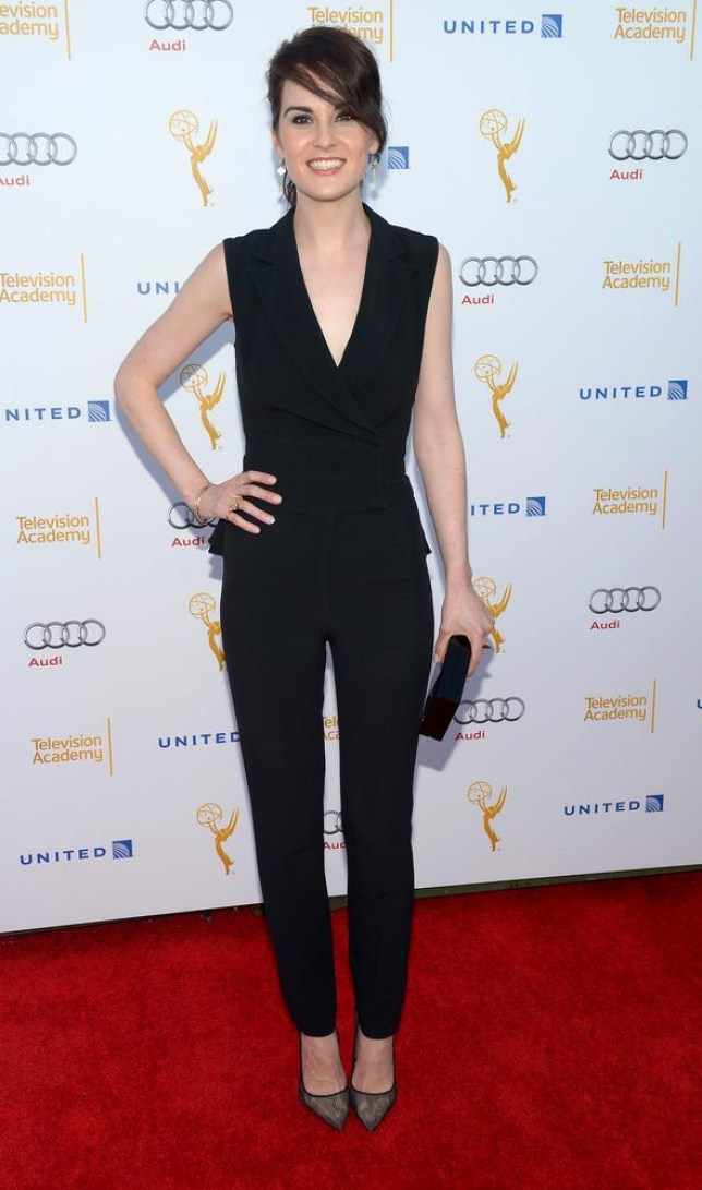 IMAGE DISTRIBUTED FOR THE TELEVISION ACADEMY - Nominee Michelle Dockery arrives at the Television Academy's 66th Emmy Awards Performance Nominee Reception at the Pacific Design Center on Saturday, Aug. 23, 2014, in West Hollywood, Calif. (Photo by Phil McCarten/Invision for the Television Academy/AP Images) Phil McCarten/Invision for the Television Academy/AP Images