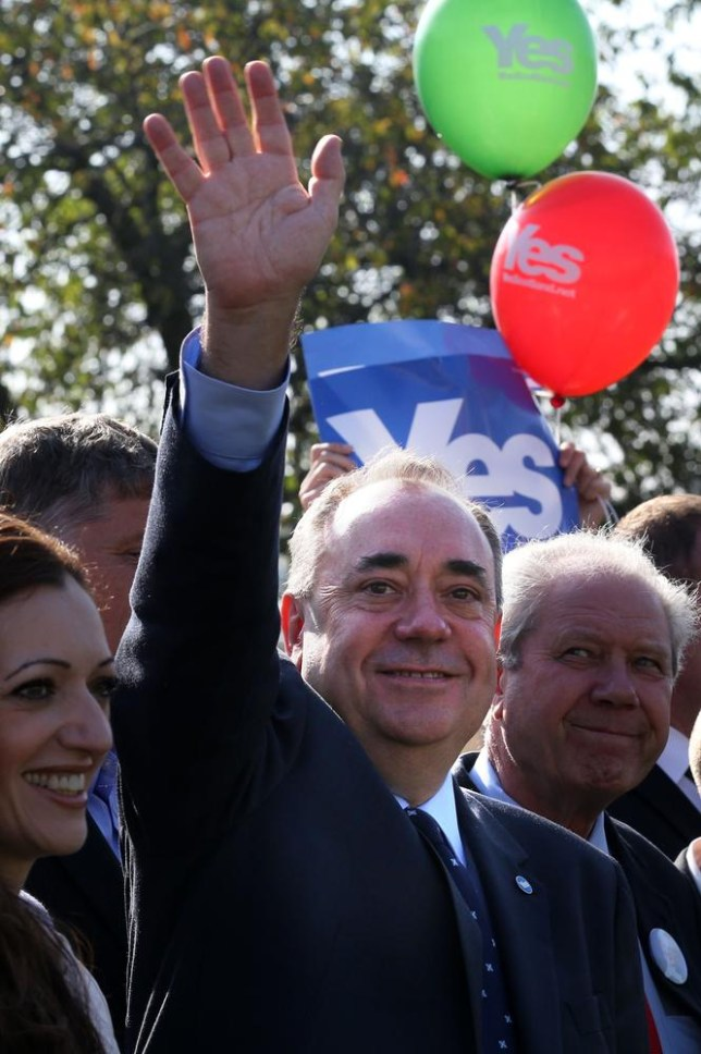 Salmond said the independence dream 'shall never die' (Picture: AP)
