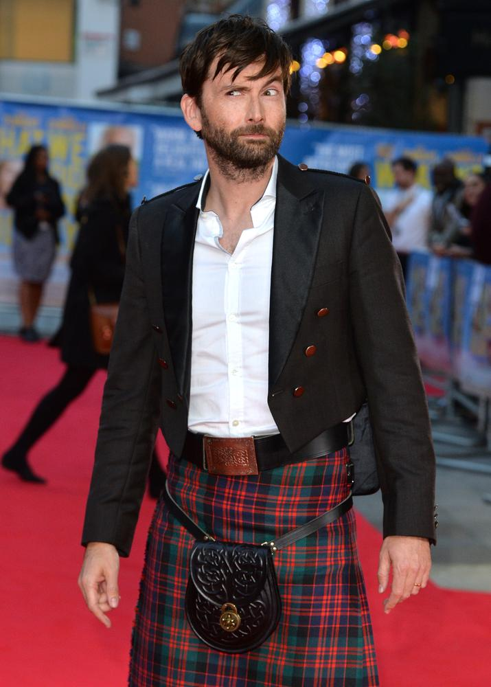 LONDON, ENGLAND - SEPTEMBER 22: David Tennant attends the World Premiere of 'What We Did On Our Holiday' at Odeon West End on September 22, 2014 in London, England. Anthony Harvey/Getty Images