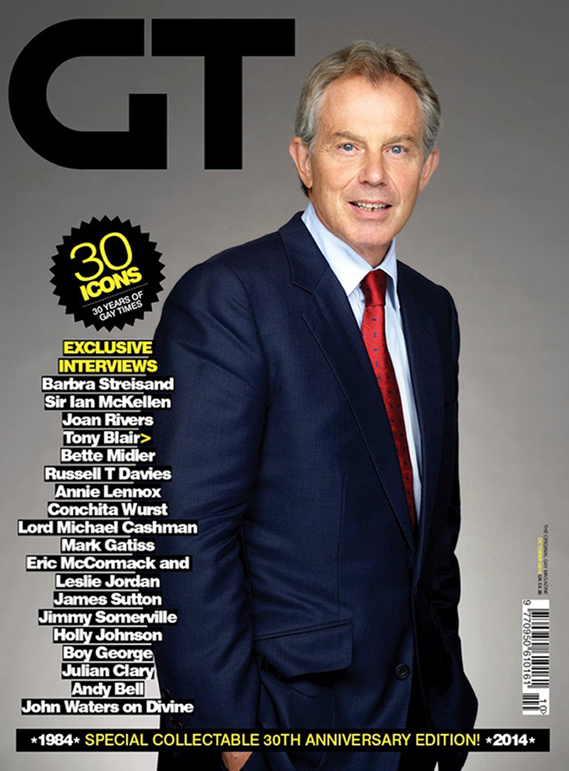 Tony Blair named top gay icon Gay Times
