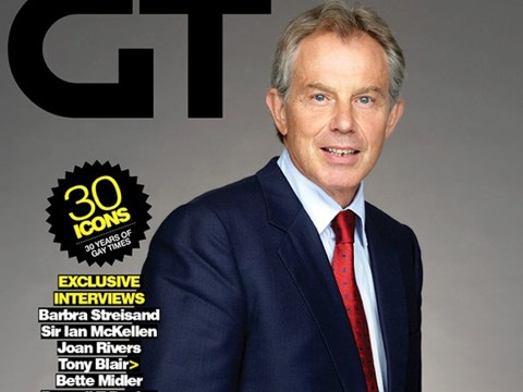 Tony Blair named top gay icon Gay Times