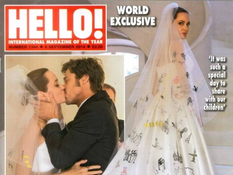 More pictures revealed of Angelina Jolie and Brad Pitt's wedding day – including the kiss