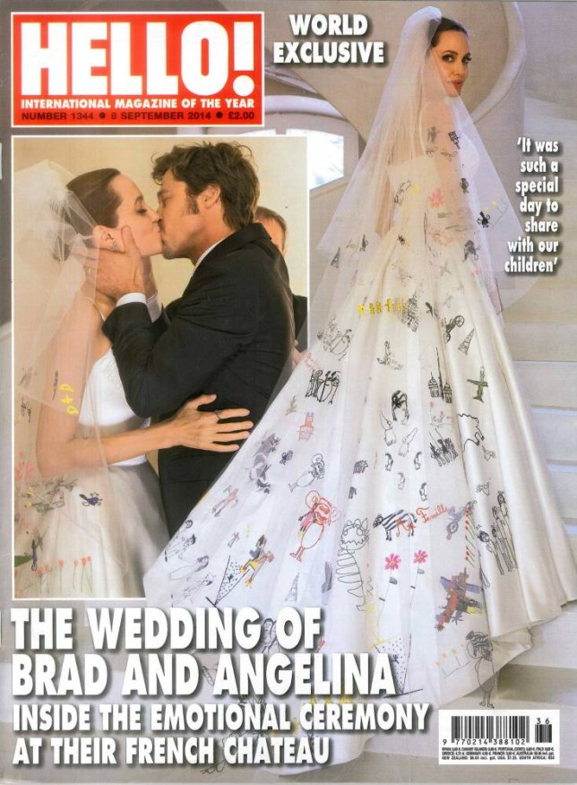 Hello magazine September 8 edition 2014 - Wedding of Brad Pitt & Angelina Jolie.........