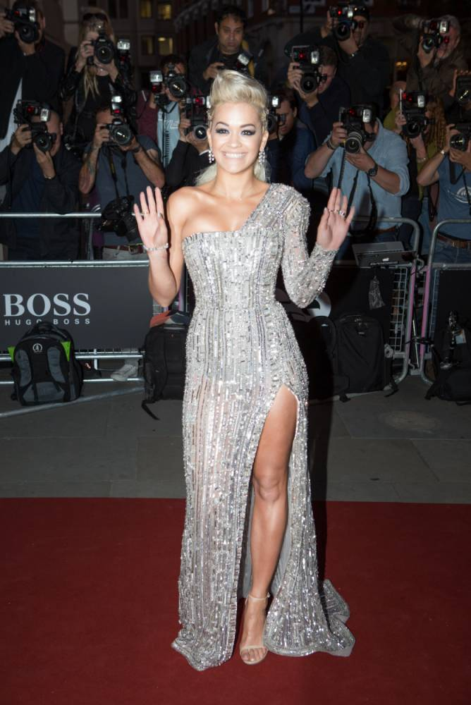 Rita Ora arrives at the GQ Men of the Year Awards at the Royal Opera House, London. PRESS ASSOCIATION Photo. Picture date: Tuesday September 2, 2014. Photo credit should read: Daniel Leal-Olivas/PA Wire