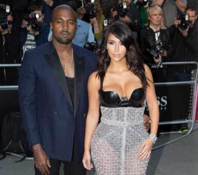 Kim Kardashian and Kanye West, GQ awards