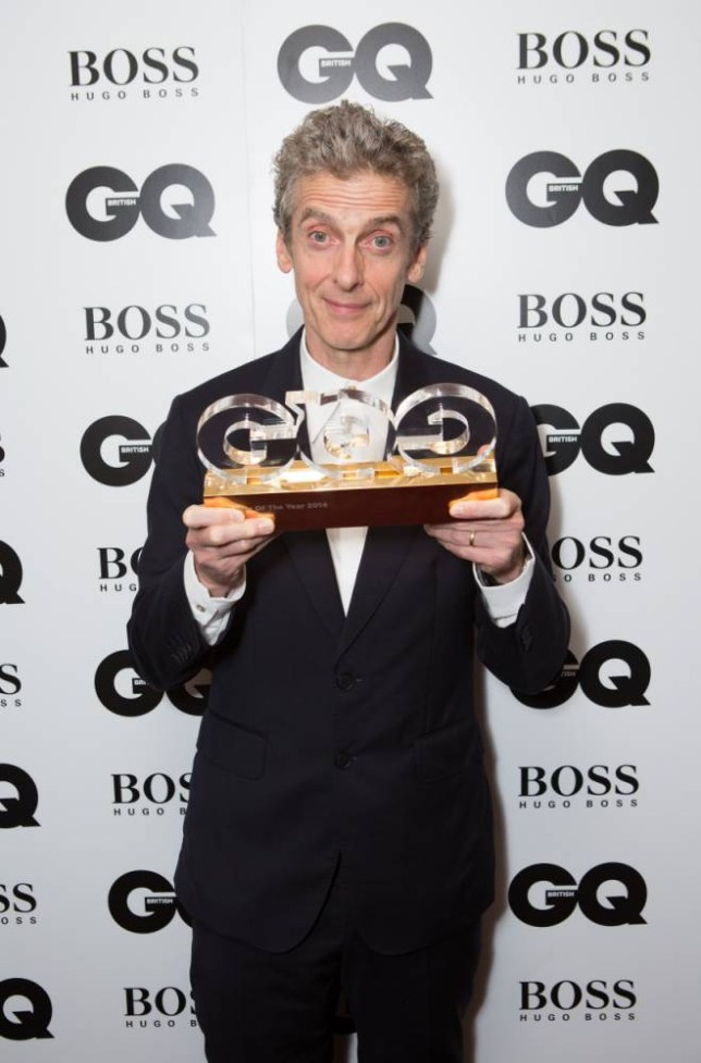 Peter Capaldi after winning the TV Personality award at the GQ Men of the Year Awards at the Royal Opera House, London. PRESS ASSOCIATION Photo. Picture date: Tuesday September 2, 2014. See PA story SHOWBIZ GQ. Photo credit should read: Daniel Leal-Olivas/PA Wire