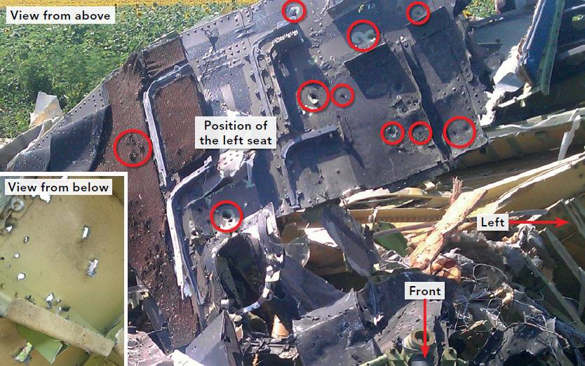 MH17: Plane 'penetrated from outside by high-energy objects', investigation finds