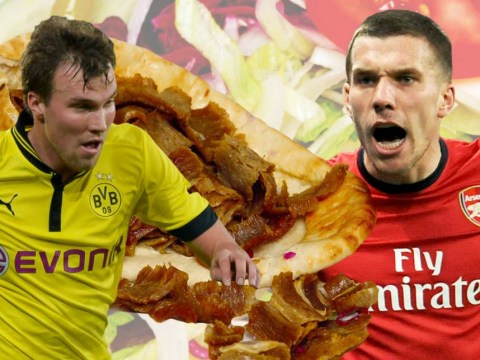Lukas Podolski bets Kevin Grosskreutz a kebab that Arsenal will beat Borussia Dortmund