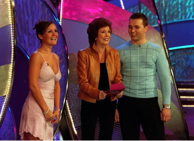 EDITORIAL USE ONLY / NO MERCHANDISING.. Mandatory Credit: Photo by ITV/REX (941264ra).. 'Blind Date'  TV - 2003 - Cilla Black with Paul and Analiesa... ITV ARCHIVE.. ..