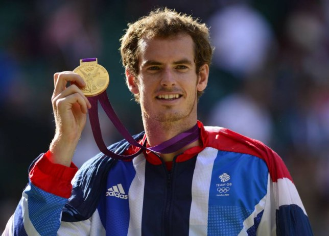 "(FILES) - A picture dated August 5, 2012 shows Great Britain's Andy Murray posing with his gold medal at the end of the men's singles tennis tournament of the London 2012 Olympic Games, at the All England Tennis Club in Wimbledon, southwest London. Scottish tennis ace Andy Murray appeared on September 18, 2014 to lend his support to independence on polling day and condemned negative tactics by the ""No"" camp in a tweet that quickly went viral.  AFP PHOTO / LEON NEALLEON NEAL/AFP/Getty Images"
