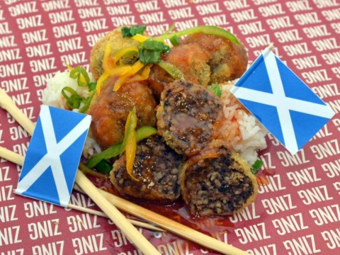 London takeaway restaurant launches sweet and sour haggis to celebrate Scotland still being part of UK