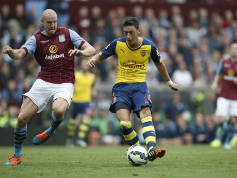 Mesut Ozil shrugs off Arsenal critics with quickfire goal and assist against Aston Villa, Arsene Wenger still mocked by fans
