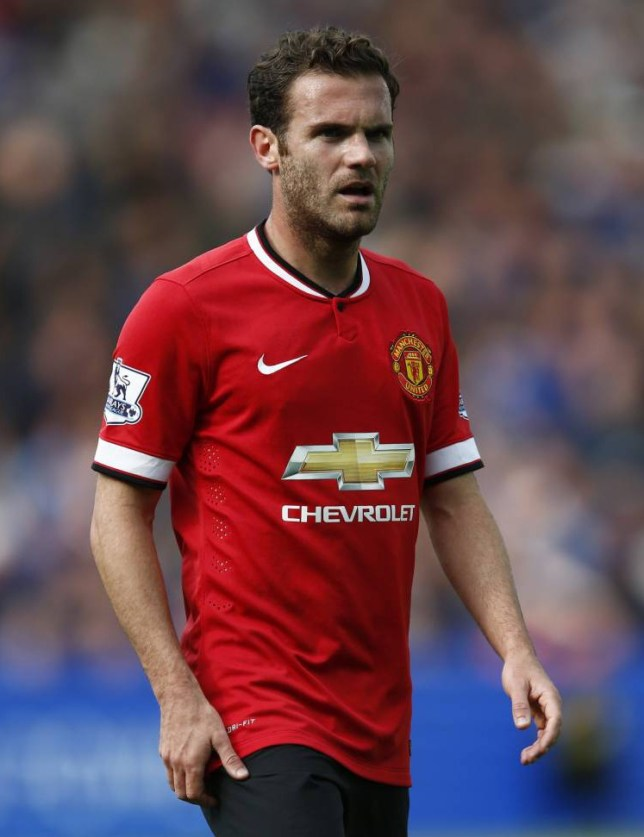 """CAPTION CORRECTION - Football - Leicester City v Manchester United - Barclays Premier League - King Power Stadium - 21/9/14  Manchester United's Juna Mata looks dejected  Mandatory Credit: Action Images / Andrew Boyers  Livepic    EDITORIAL USE ONLY. No use with unauthorized audio, video, data, fixture lists, club/league logos or """"live"""" services. Online in-match use limited to 45 images, no video emulation. No use in betting, games or single club/league/player publications.  Please contact your account representative for further details."""