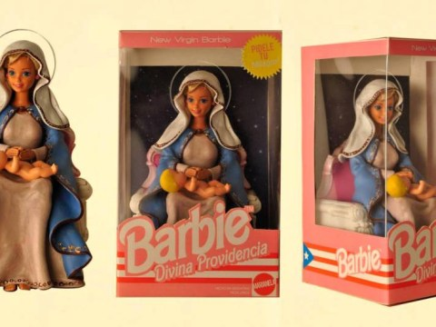 Yup, this is a Barbie and Ken version of Jesus and the Virgin Mary