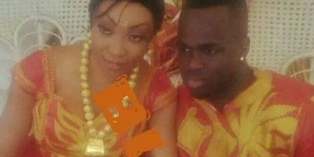 Tiote with wife number 2 Doukrou Laeticia in his native Ivory Coast. Footballer Cheick Tiote has been exposed as a love cheat wtith two wives - and a mistress