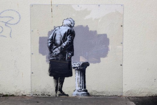 Who's Banksy, the nameless British road artist?