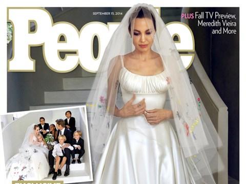 25 thoughts we had when we saw Angelina Jolie's wedding dress