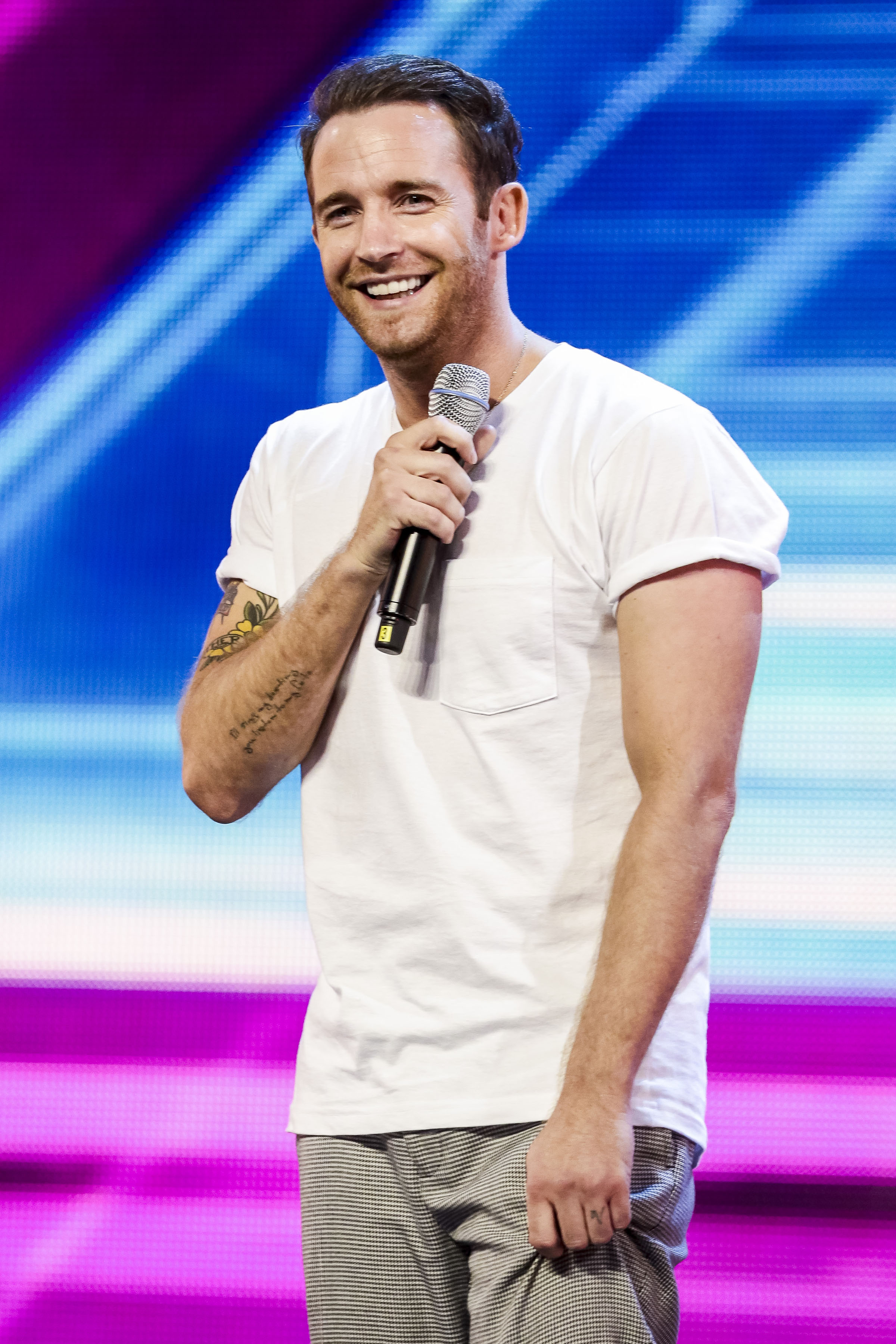 X Factor star Jay James Picton says he would gladly take on James Blunt in a chart battle (Pic: ©SYCO /THAMES TV/ITV)