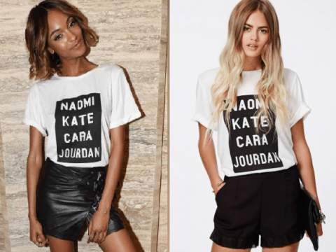 Here's where you can buy the Naomi Kate Cara Jourdan supermodel t-shirt everyone's talking about